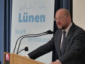 Martin Schulz spricht auf der 150 Jahr Feier der SPD Lünen