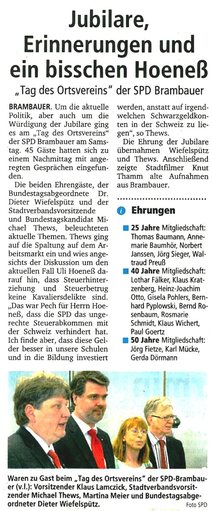 Ruhrnachrichten am 28.05.2013