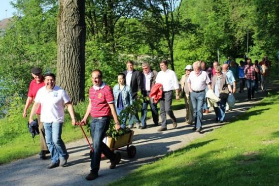Wanderung der Pelkumer SPD durch den Selbachpark