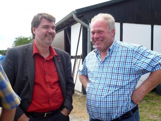 Michael Thews und der Vorsitzende Rudolf Hölscher