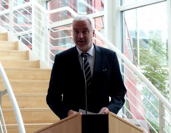 NRW-Wirtschaftsminister Garrelt Duin, Schirmherr des Berufsinformationstages