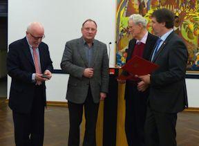(v.l.) Wolfram Kuschke, Ulrich Klink, Prof. Dr. Ludwig Bußmann,