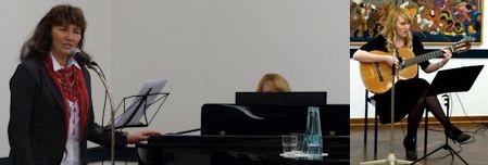 Ulrike und Katharina Kleber sorgten für musikalische Untermalung