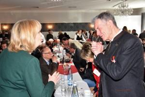 Hannelore Kraft freute sich über die Genesung von Karl-Heinz Fridriszik.