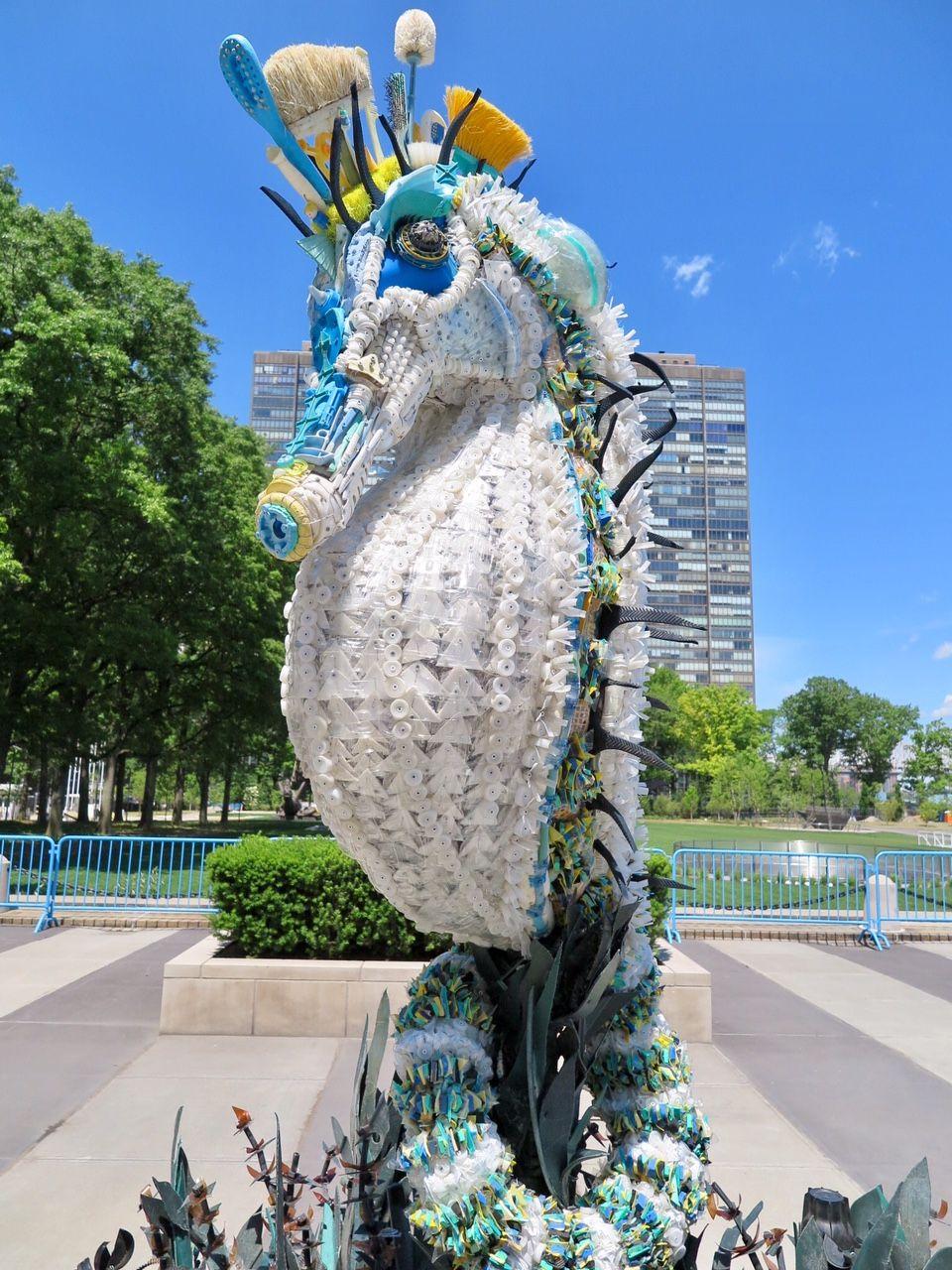 Kunstwerk Ozean-Müll in New York