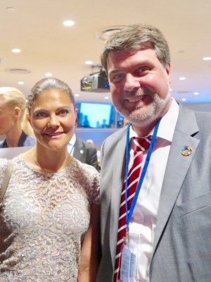 Victoria von Schweden und Michael Thews Ocean Konferenz